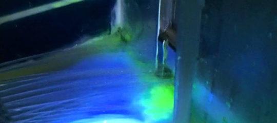 détection de fuite d'eau avec la Fluorescéine